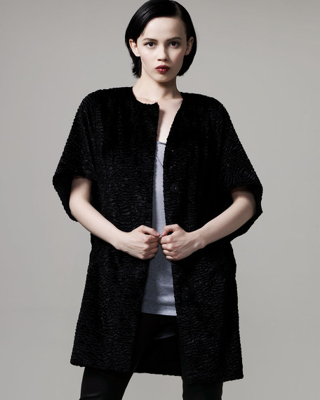 Leighton Faux-Astrakan Coat