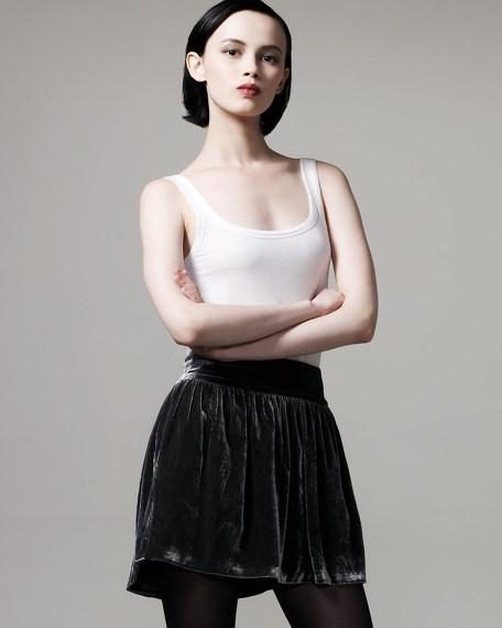 Ra Ra Velvet Miniskirt