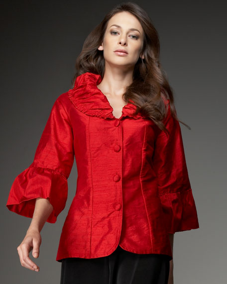 Ruffle-Collar Jacket