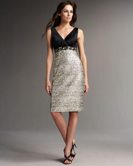 Combination Tweed Dress