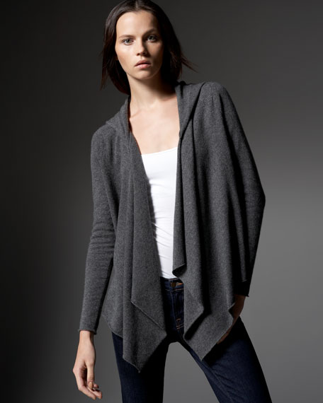 Prentice Hooded Cashmere Cardigan