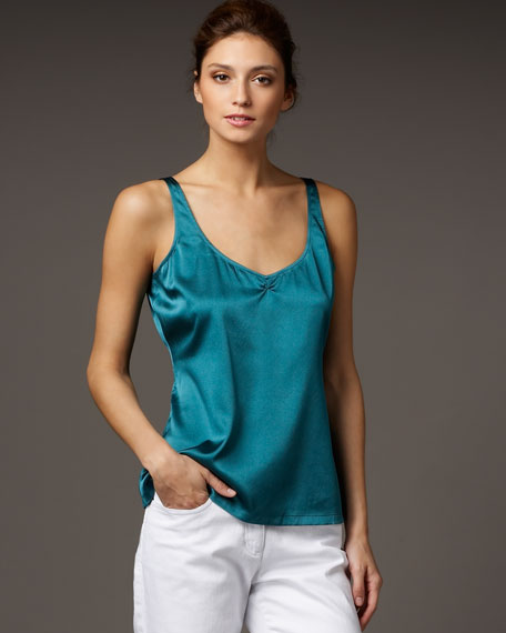 Charmeuse V-Neck Shell, Women's