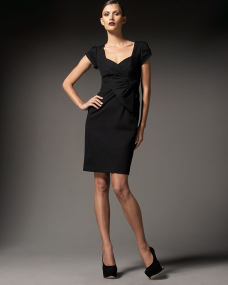 Palacia Cap-Sleeve Sheath Dress