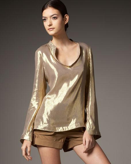 Stephanie Metallic Tunic