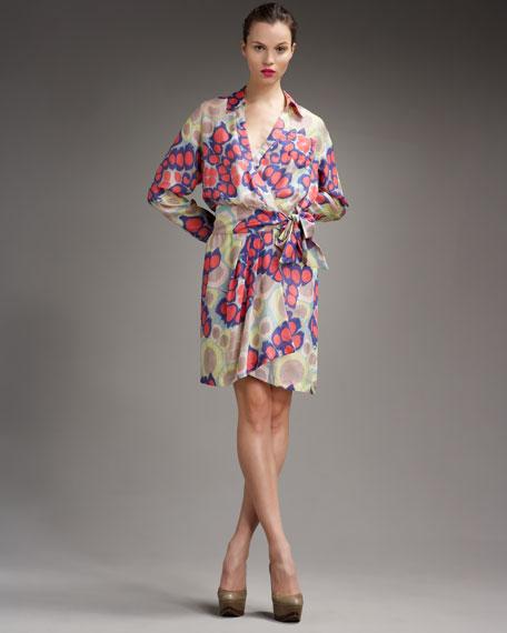 Marin Printed Wrap Dress