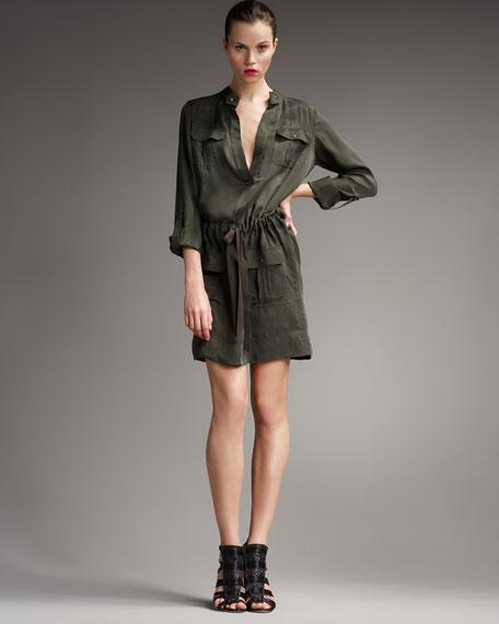 Selema Cinch-Waist Cargo Dress