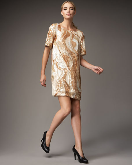 Sequined Wave Dress
