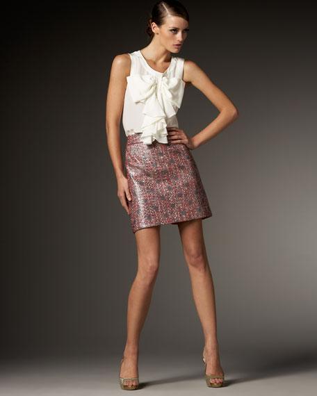 julie metallic-tweed skirt
