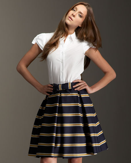 radcliffe striped skirt
