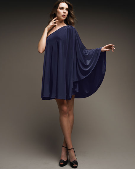 One-Shoulder Trapeze Dress