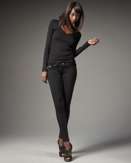 Misty Ponte Leggings, Black
