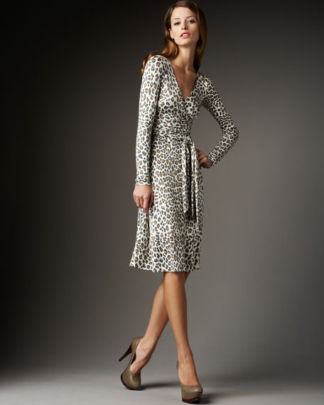 Leopard-Print Wrap Dress
