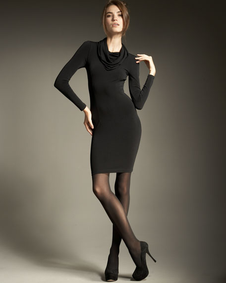 Wellesly Cowl-Neck Dress