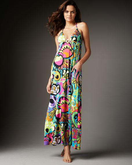 Acapulco-Print Maxi Dress