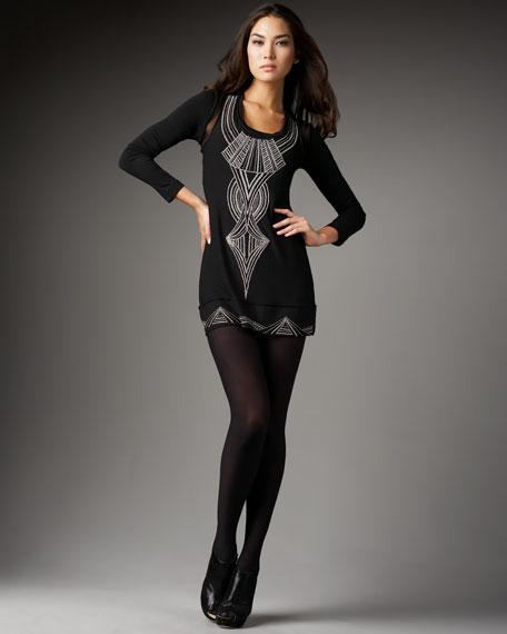 Deco-Bead Jersey Sheath Dress