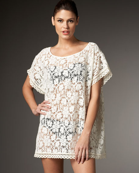 Balton Cream Lace Coverup