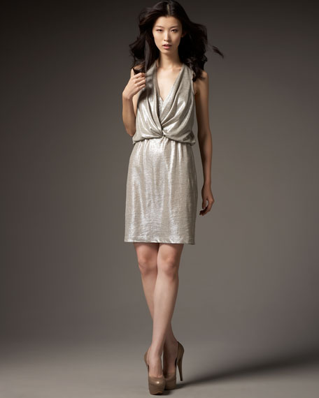 Metallic Knot Dress