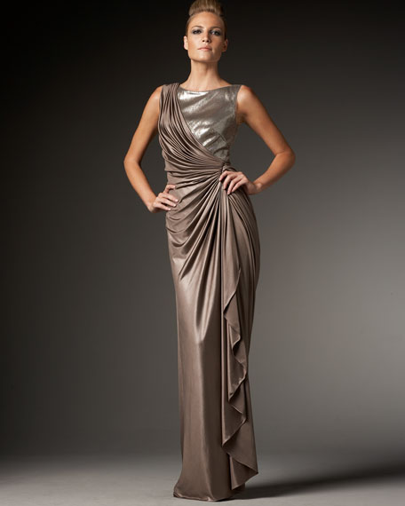 Sequin-Detail Gown