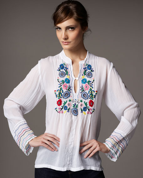 Tasha Embroidered Tunic, Women's