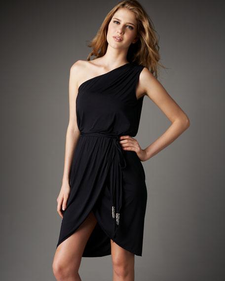 One-Shoulder Coverup Dress