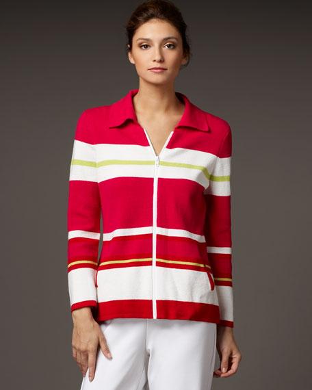 Striped Zip Top