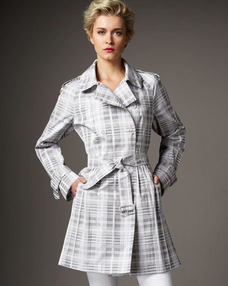 Jane Post Plaid Skirty Trench Coat