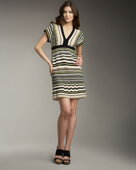 Pointelle Zigzag Dress