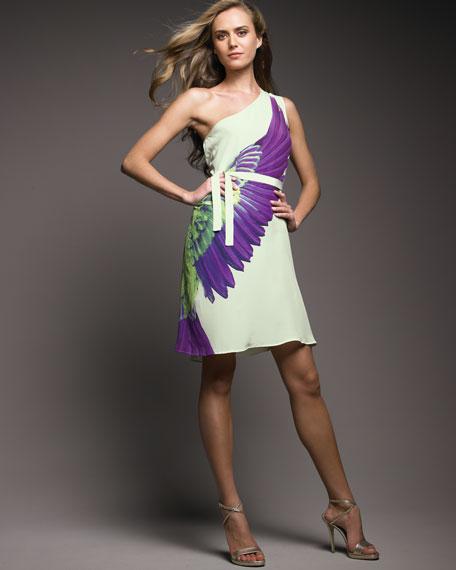 One-Shoulder Wing Dress