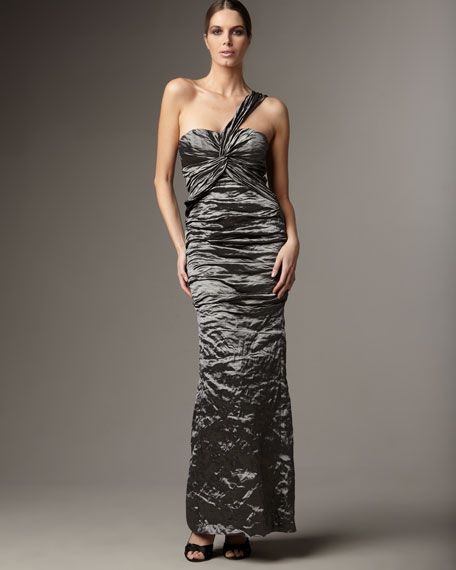 Ruched Mermaid Gown