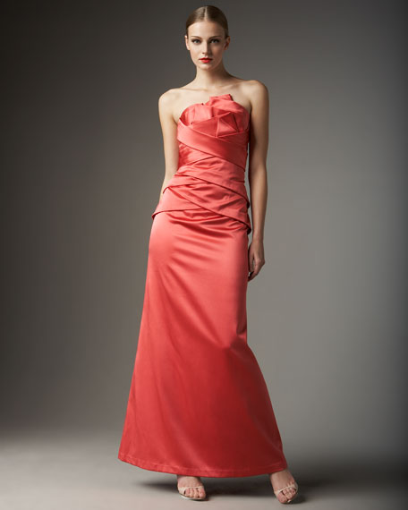 Strapless Origami Gown