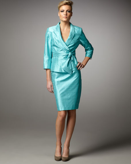 Textured Silk Suit