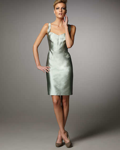 Shantung Sheath Dress