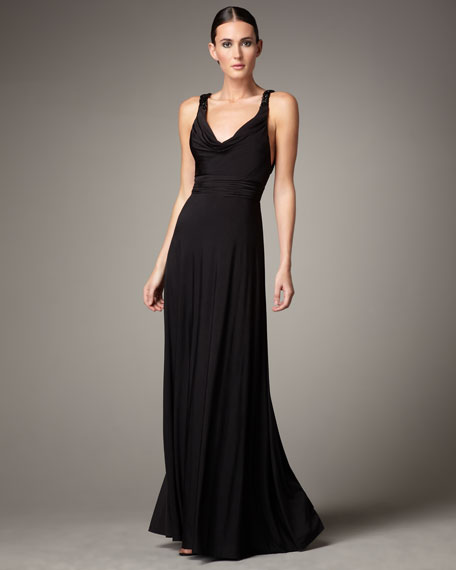 Low-Back Jersey Gown