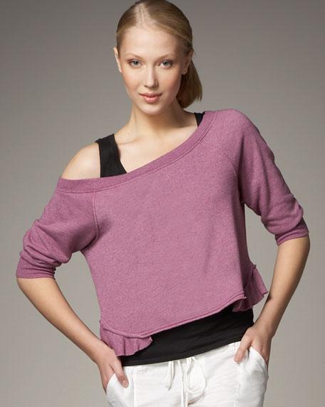 Fleece Peplum Pullover