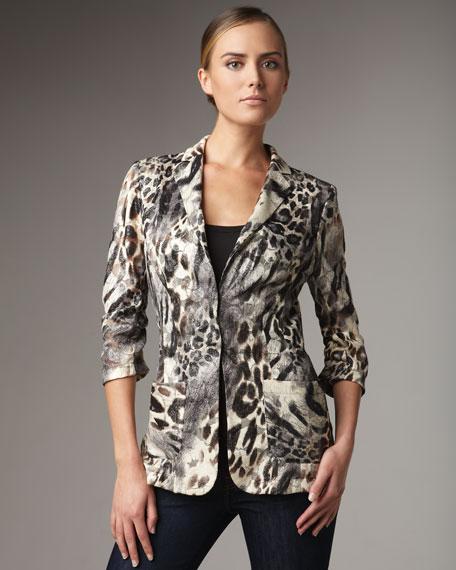 Animal-Print Jacket