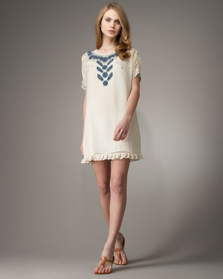 Trellis Beaded Dress