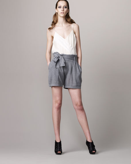 Rag & Bone Cotton Paper-Bag Shorts