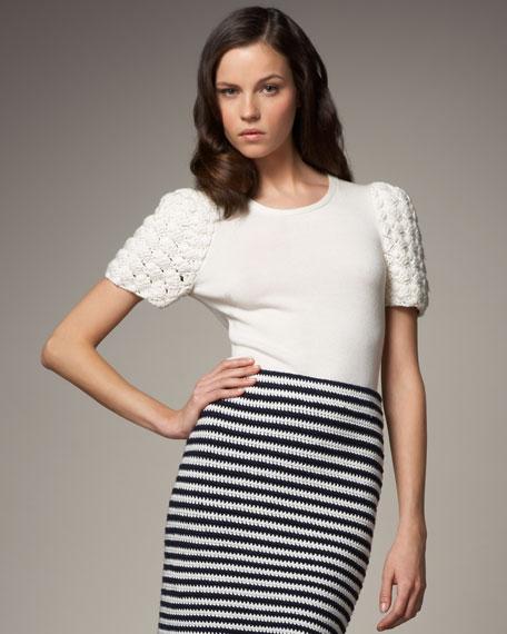 Crochet-Sleeve Top