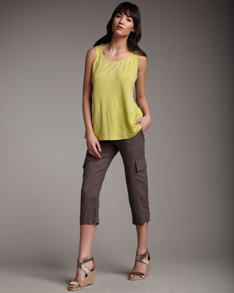 Organic-Linen Cargo Pants