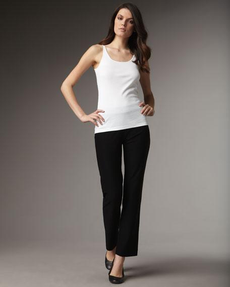Stretch-Crepe Boot-Cut Pants, Women's