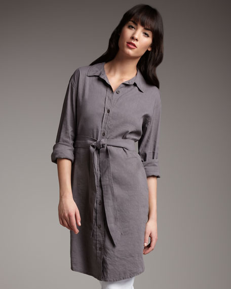 Self-Belt Shirtdress