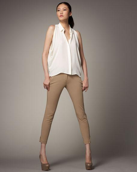 Skinny Cropped Pants, Bourbon