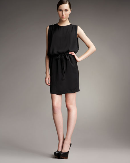 Tie-Front Sleeveless Dress