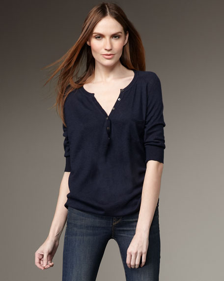 Cowl Henley Sweater