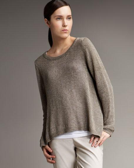 Side-Drape Sweater