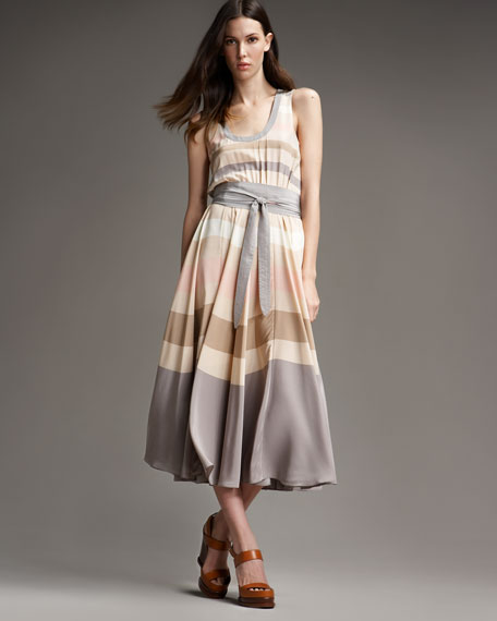 Simone Striped Dress