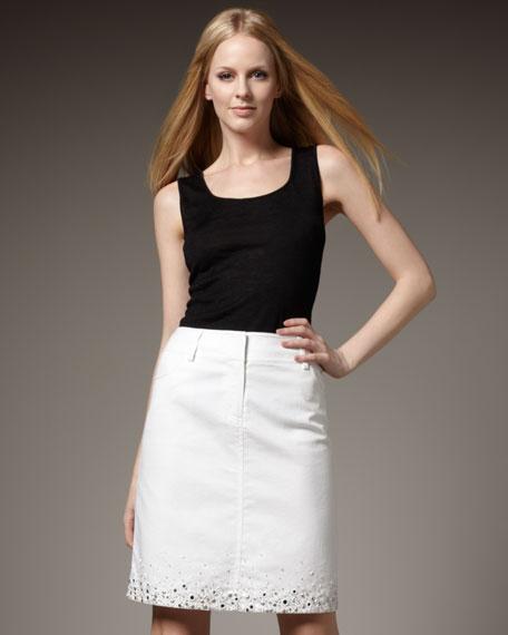 Beaded Jean Skirt