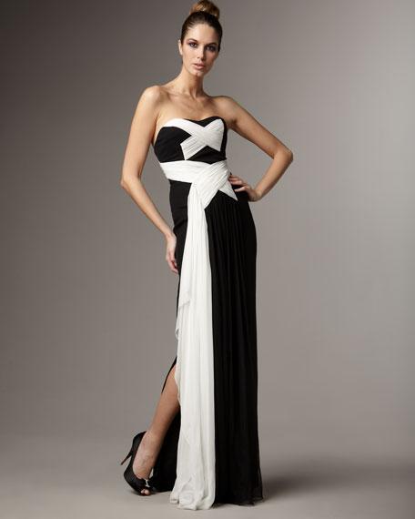 Crisscross Contrast Gown