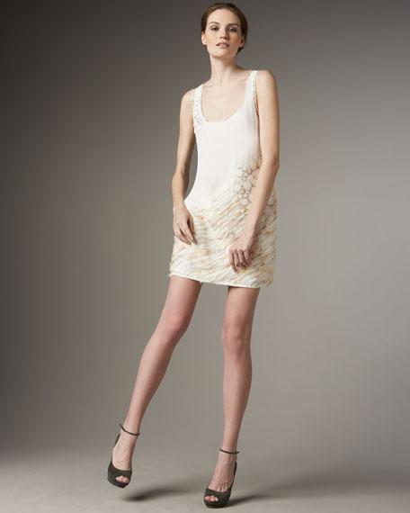 Applique Silk Tank Dress