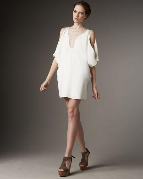 Cold-Shoulder Illusion Dress